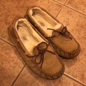 Women's Ugg Dakota slipper in Chestnut. Size 8.